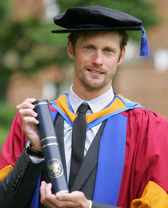 Alexander Skarsgard Gets A Degree