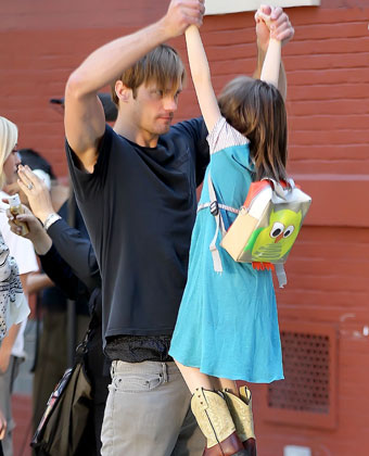 Alexander Skarsgard Has Fun On Set