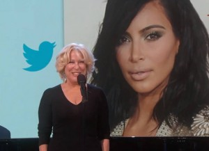 Bette Midler Sings Kim Kardashian Tweets For 'Jimmy Kimmel Live'