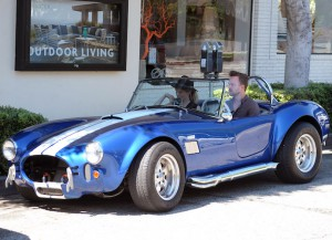 Aaron Paul Takes Wife Lauren Parsekian For A Spin In His Vintage Car