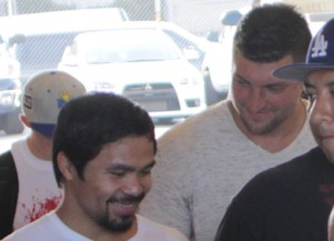 Tim Tebow Visited Manny Pacquiao At Training Camp In L.A.