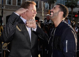 Will Ferrell And Drake Joke Around On The 'Get Hard' Red Carpet