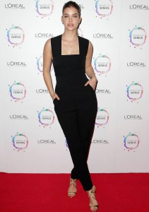 Barbara Palvin Wears Chic Jumpsuit To L'Oreal Paris Launch Event