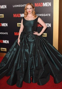 Christina Hendricks Wears Detachable Gown To 'Mad Men' Ball