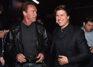 Arnold Schwarzenegger And Tom Cruise Hang Out At CinemaCon