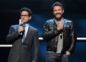 J.J. Abrams And James Franco Speak At Hulu Upfront Presentation