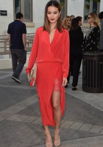 Jamie Chung Goes Red For 'Resident Advisors' Premiere