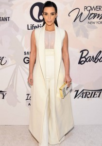 Kim Kardashian Wears White To Variety's Power Of Women Event