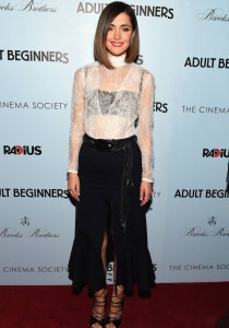 Rose Byne Hits 'Adult Beginners' Premiere In NYC In On-Trend Ensemble