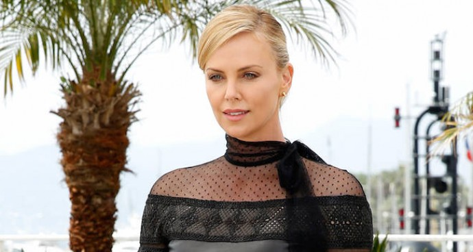 Charlize Theron Wears Valentino For Cannes Photocall