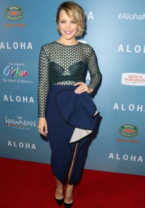Rachel McAdams Wins The 'Aloha' Red Carpet In Bold Ensemble