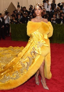 Rihanna Took Over The Met Gala Red Carpet In Bright Yellow Gown
