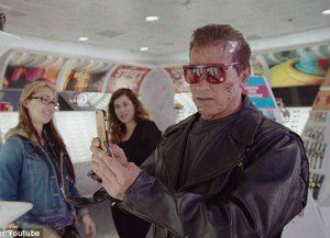 Arnold Schwarzenegger Takes To The Streets Of Hollywood As The Terminator