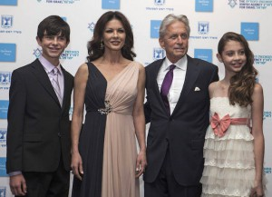Michael Douglas Brings Wife Catherine Zeta Jones And Children To Genesis Prize Award Ceremony