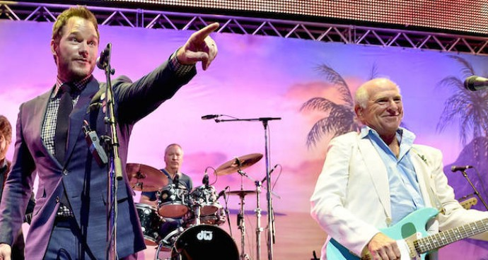Chris Pratt Sang With Jimmy Buffett At 'Jurassic World' Premiere After Party