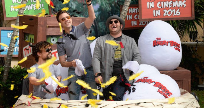 Peter Dinklage, Jason Sudeikis & Josh Gad Attend 'Angry Birds' Photocall In Cancun