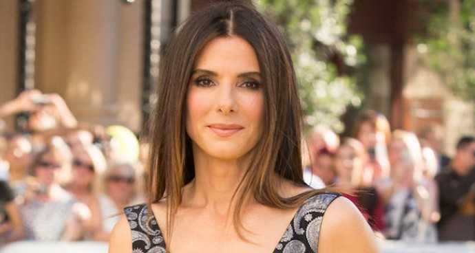 Sandra Bullock Shows Her Style At 'Minions' Premiere In Paisley-Print Dress