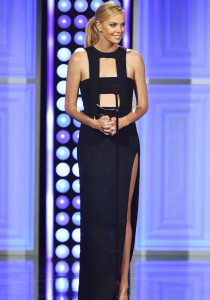 Charlize Theron Rocks Sexy Cut-Out Dress To Critics Choice TV Awards