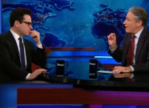 J.J. Abrams Opens Up To Jon Stewart About Breaking His Back During 'Star Wars' Filming