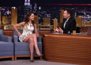 Katie Holmes Loses The 'Say Anything' Game On 'Tonight Show'