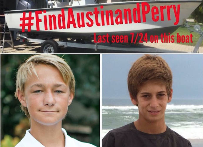 Perry Cohen and Austin Stephanos missing: iPhone, boat