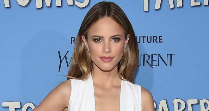 Halston Sage Wowed in Miu Miu At 'Paper Towns' Premiere