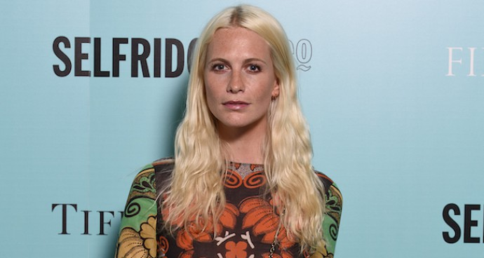 Poppy Delevingne Goes Boho In Valentino At Tiffany & Co Exhibition