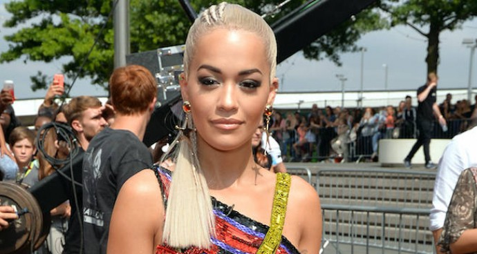 Rita Ora Wears Versace LBD To 'X Factor' Auditions