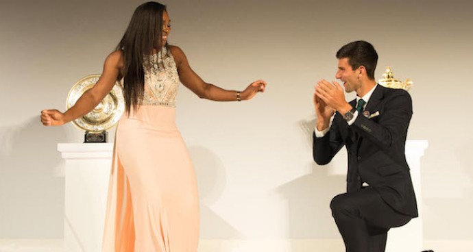 Serena Williams And Novak Djokovic Dance At Wimbledon Champions' Dinner