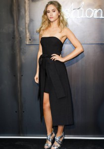 Suki Waterhouse Wears A Spin On The LBD At Amazon Fashion Photography Studio Launch Party