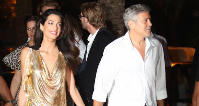 Amal Alamuddin Accompanies George Clooney To Casamigos Tequila Event