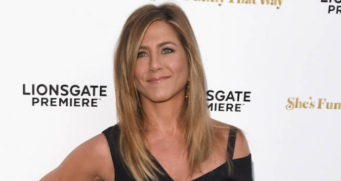 Jennifer Aniston Rocked Roland Mouret And A New Wedding Band At 'She's Funny That Way' Premiere