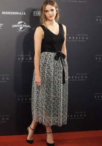 Emma Watson Kicks Off 'Regression' Promo Tour In Christopher Kane
