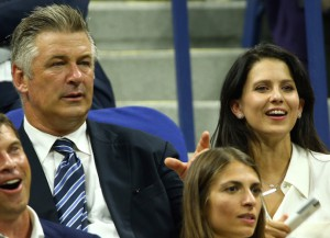 Alec Baldwin & Wife Hilaria Watch Rafael Nadal Match At U.S. Open