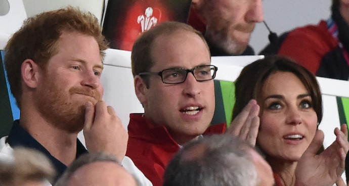 Duke And Duchess Of Cambridge Watch Rugby World Cup Match With Prince Harry