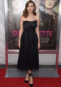 Carey Mulligan Dons All Black For 'Suffragette' Premiere