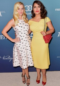 Reese Witherspoon And Salma Hayek Attend Variety's Power Of Women Luncheon In Style