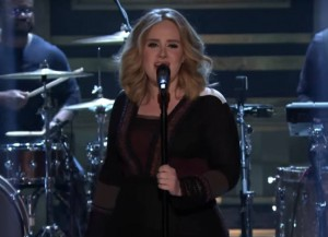 "Adele Performs ""Water Under The Bridge"" And Plays 'Box Of Lies' With Jimmy Fallon On 'Tonight Show'"