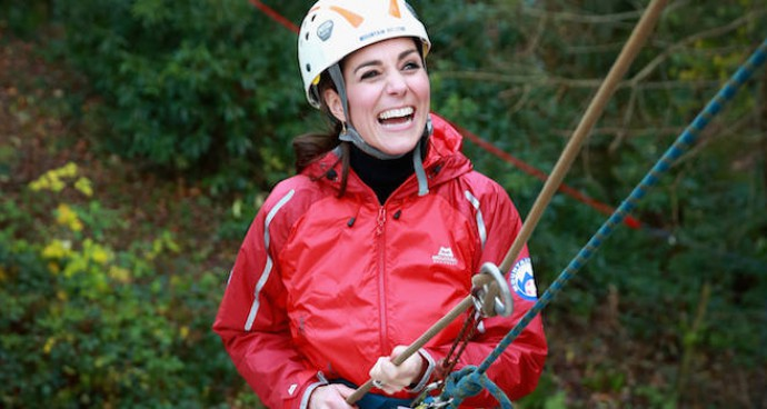 Kate Middleton Rappels Down Wall At Outdoor Education Center
