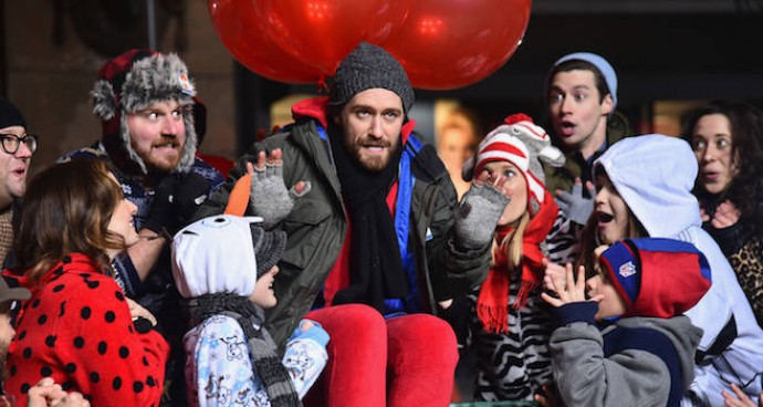Matthew Morrison Rehearses For The Macy's Thanksgiving Day Parade