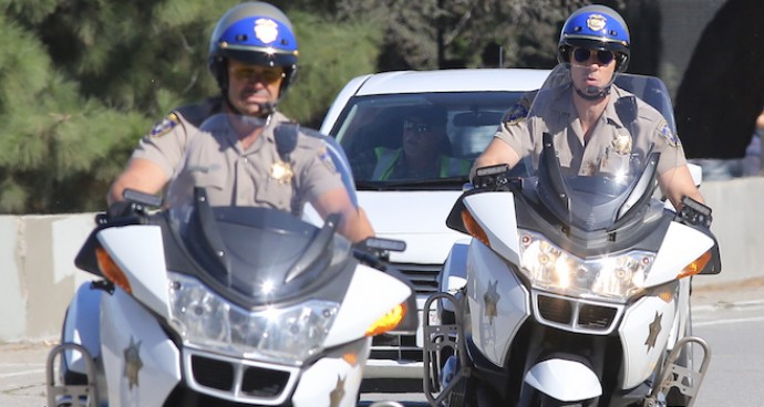 Dax Shephard And Michael Peña Film Scene For 'CHiPs' Remake
