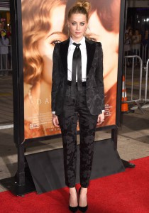 Amber Heard Rocks Sleek Suit To 'Danish Girl' Premiere