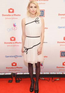 Emma Roberts Shines In White At 'Donate A Photo' Event