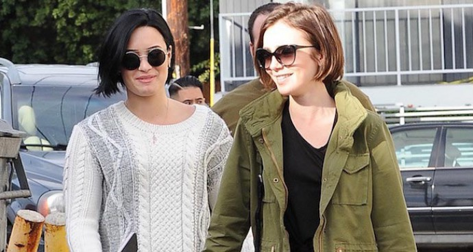 Demi Lovato And Lily Collins Grab Lunch In L.A.