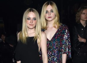 Sisters Dakota And Elle Fanning Attend Saint Laurent Show In LA