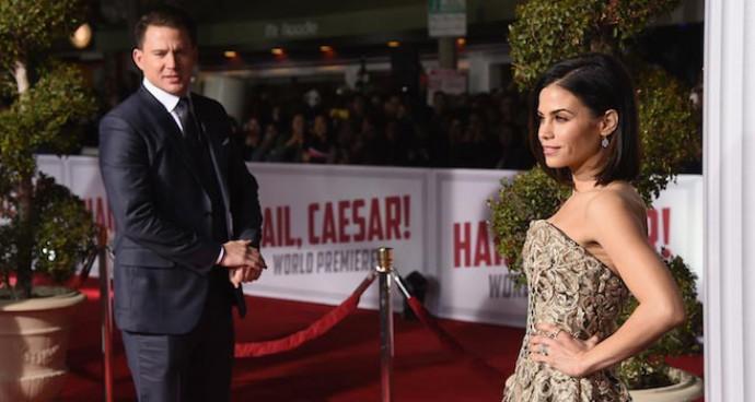 Channing Tatum Walked The 'Hail, Caesar!' Premiere Red Carpet With Wife Jenna Dewan-Tatum