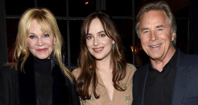 Dakota Johnson Brought Parents Melanie Griffith & Don Johnson To 'How To Be Single' Premiere