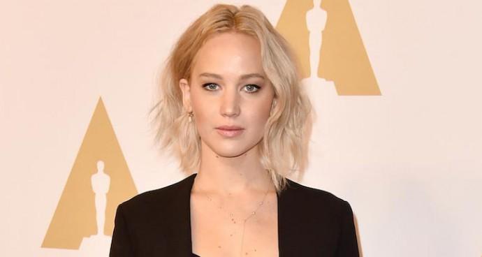 Jennifer Lawrence Donned A Stella McCartney Suit To Oscar Luncheon