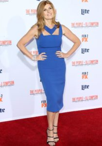Connie Britton Brought The Glam In Blue At The 'American Crime Story' Premiere