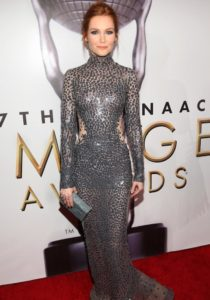 Darby Stanchfield Rock Metallic Number At NAACP Image Awards